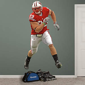J.J. Watt Wisconsin Fathead Wall Decal